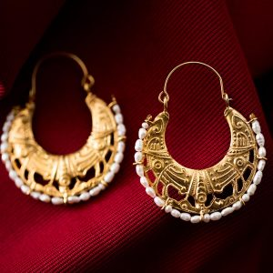 byzantine gold boho hoops earrings