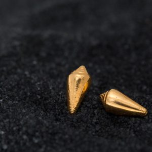 Hand Made Sterling Silver Gold Plated Cone Seashell Studs