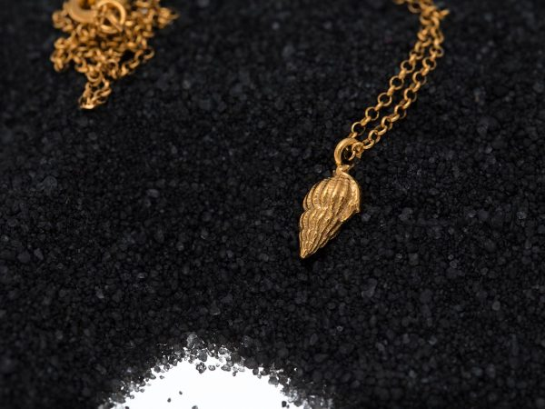 Hand Made Sterling Silver Gold Plated Sea Snail Pendant