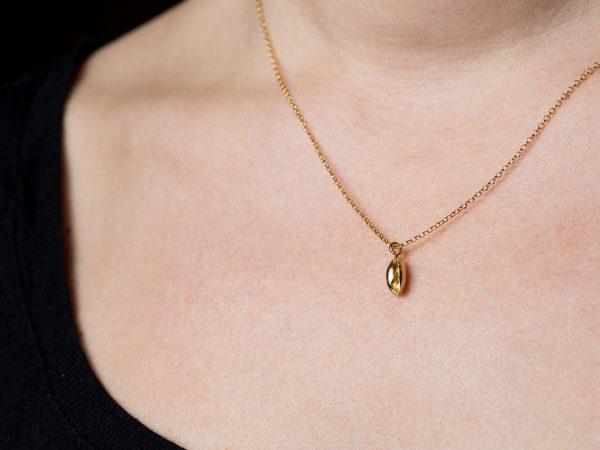bubble seashell pendant