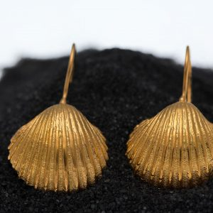 Big cockle clam shell earrings