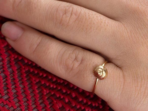 Hand Made Sterling Silver Gold Plated Snail SeaShell Ring
