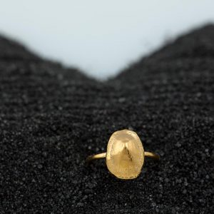 Hand Made Sterling Silver Gold Plated Limpet Seashell Ring