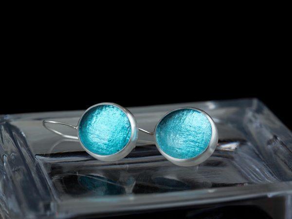 blue topaz pastilles earrings