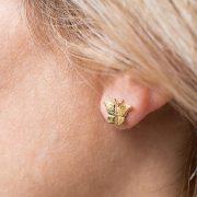 mini butterfly studs earrings