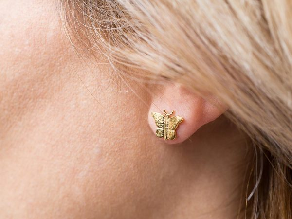 mini butterfly studs earrings