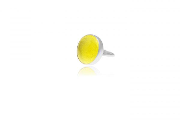 lemon yellow pastille ring