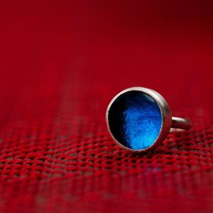 Hand Made Sterling Silver Small Royal Sapphire Blue Pastille Ring