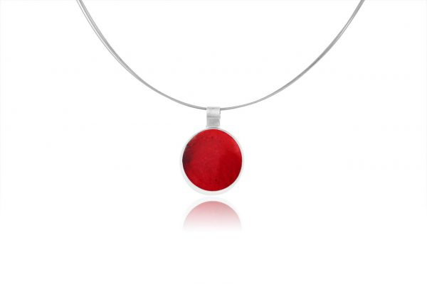 fire red pastille pendant
