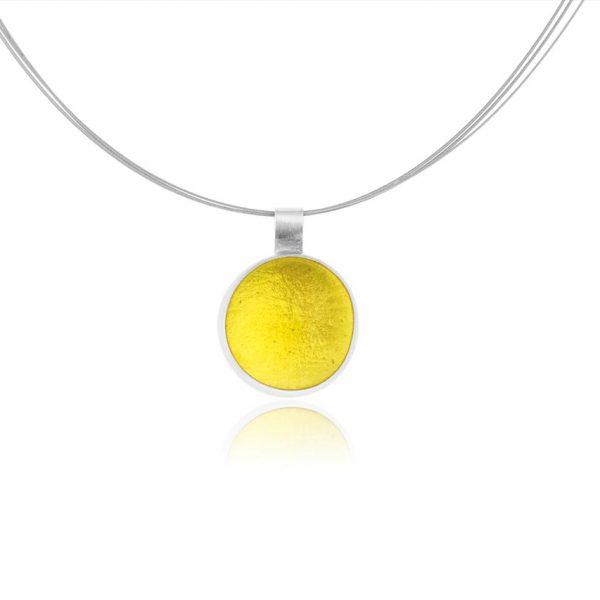 lemon yellow pastille pendant