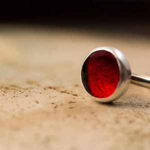 fire red pastille ring
