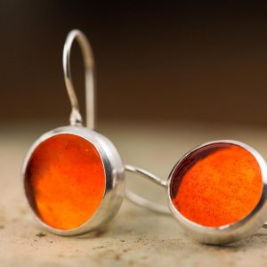 caviar orange pastille earrings