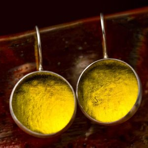 lemon yellow pastilles earrings