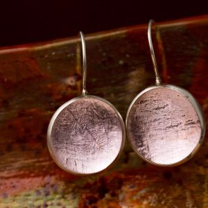 Hand Made Sterling Silver Big light Rose Pastilles Earrings