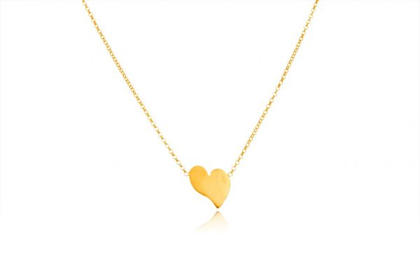 Hand Made Sterling Silver Gold Plated Heart Pendant