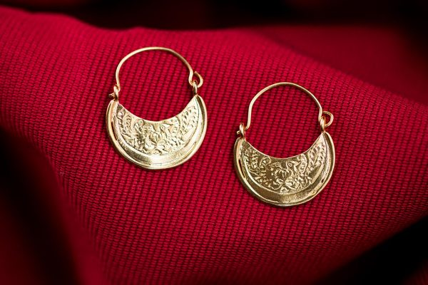 byzantine hoops earrings gold