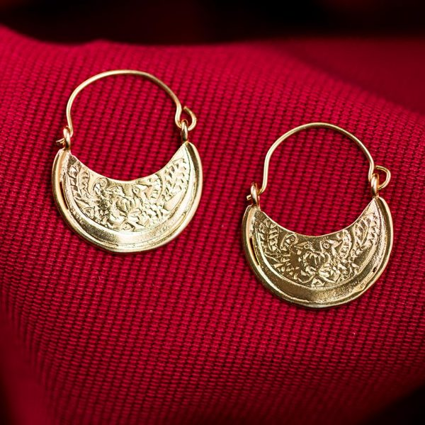 byzantine hoops earrings gold