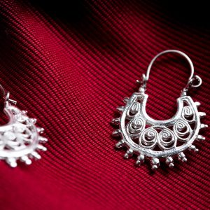 Hand Made Sterling Silver Filigree Byzantine Hoops