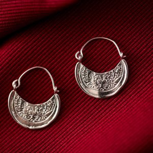 Hand Made Sterling Silver Two Birds Byzantine Hoops